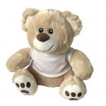 20CM-Teddy-Bear-Cream-With-Sublimation-T-Shirt-For-Heat-Transfer-Press-373065157209